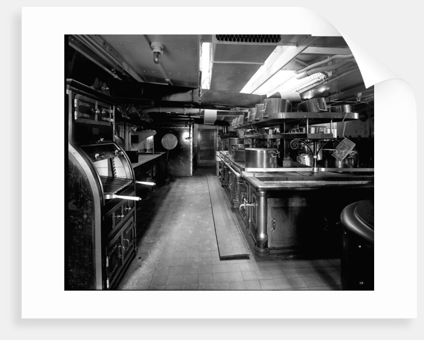 Passenger Galley on the 'Balmoral Castle' (1910) by Bedford Lemere & Co.