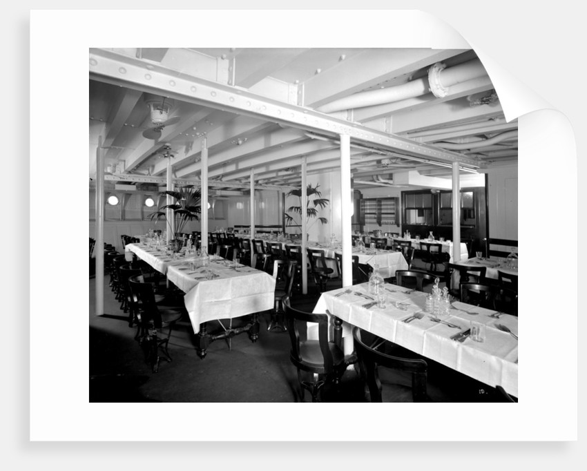 Third Class Dining Saloon on the 'Llandovery Castle' (1914) by Bedford Lemere & Co.