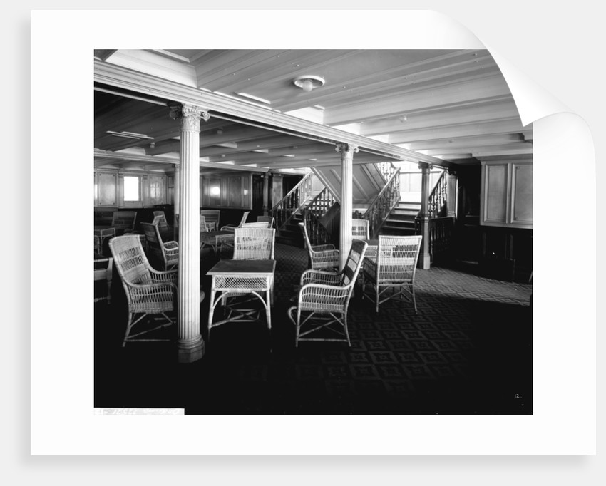 Second Class Lounge on the 'Orduna' (1914) by Bedford Lemere & Co.