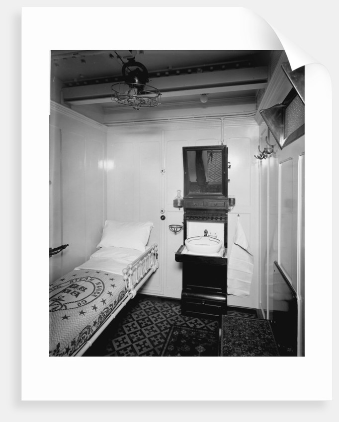 Second Class stateroom on the 'Orduna' (1914) by Bedford Lemere & Co.