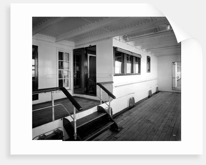First Class Promenade Deck on the 'Aquitania' (1914) by Bedford Lemere & Co.