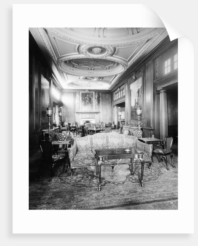 First Class Smoking Room on the 'Aquitania' (1914) by Bedford Lemere & Co.