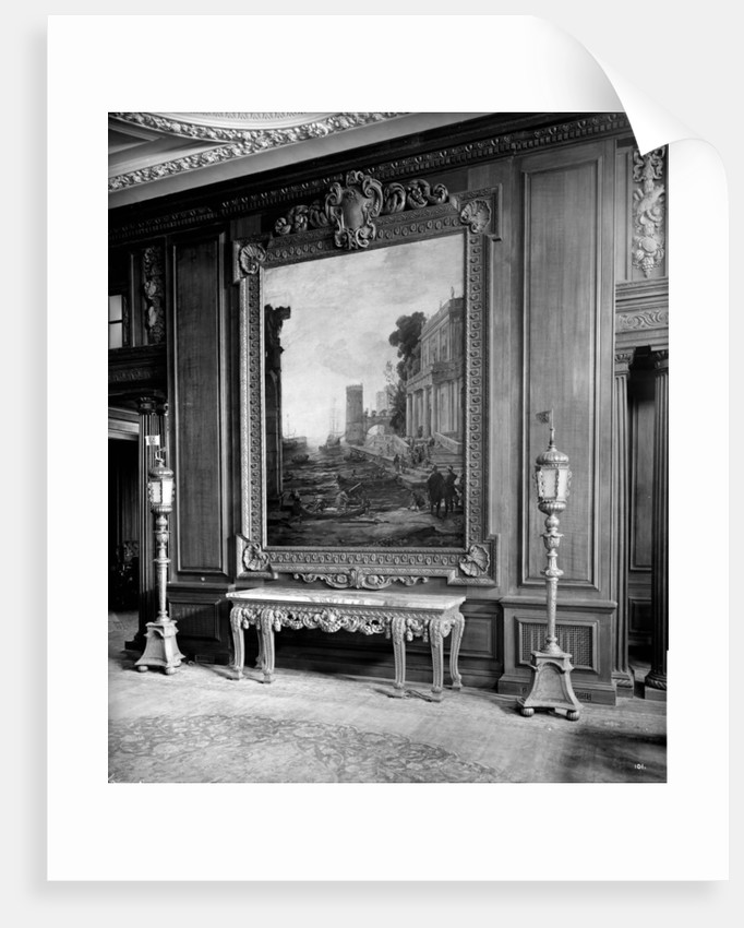 Painting in the First Class Smoking Room on the 'Aquitania' (1914) by Bedford Lemere & Co.