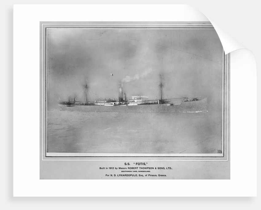 The 'Fotis' (Gr, 1912) under way by unknown