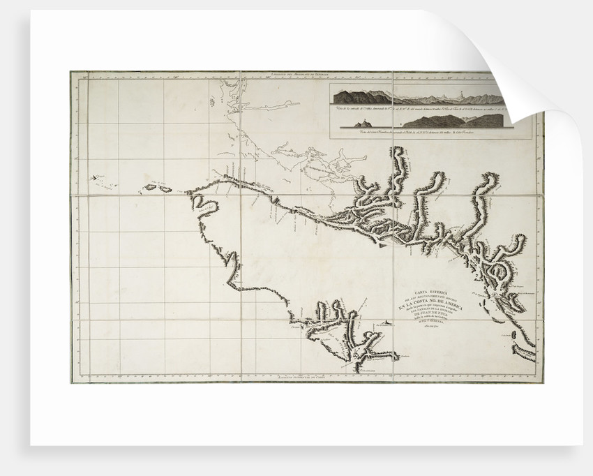 Nautical Chart of surveys made in 1792 of America to examine the entrance  of Juan de Fuca