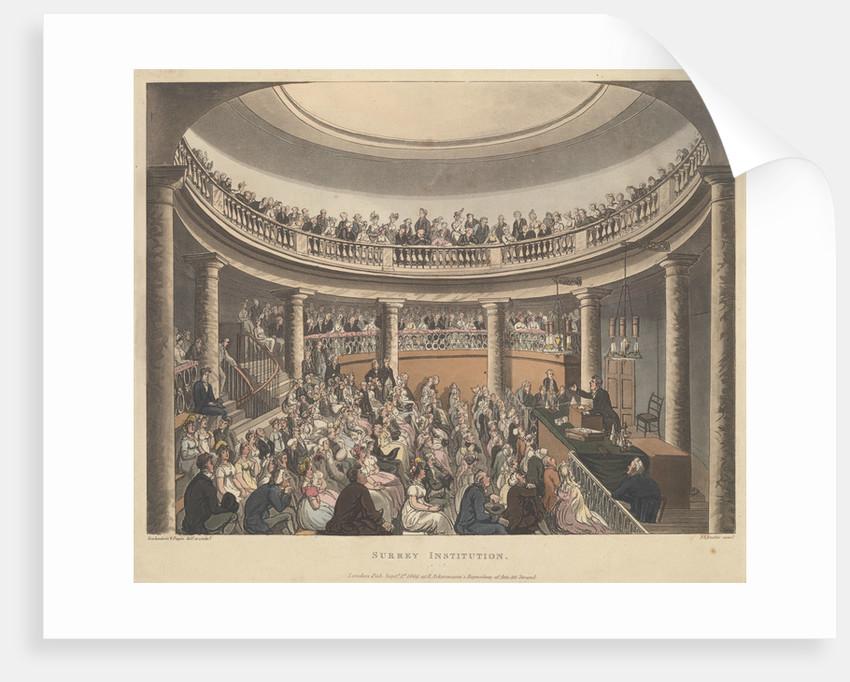 Surrey Institution by Thomas Rowlandson