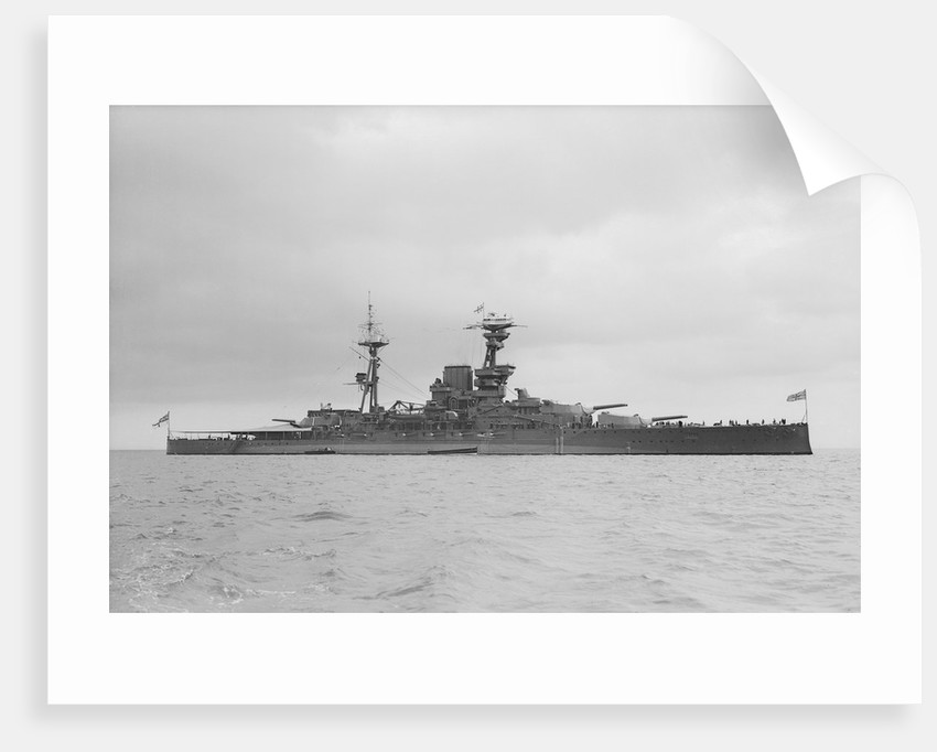 HMS 'Royal Oak' (1914), starboard beam view by unknown