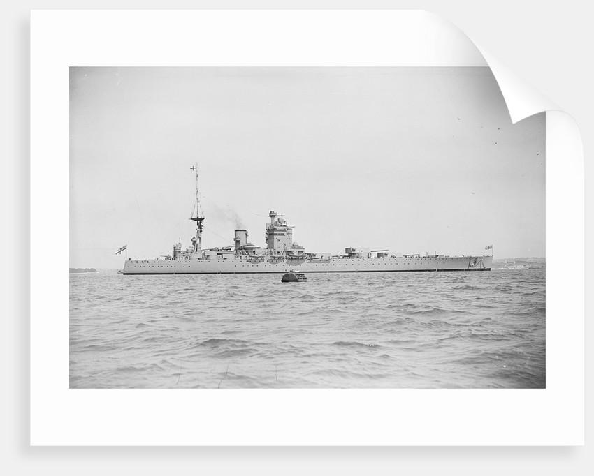 HMS 'Nelson' (1925) battleship, starboard beam view in circa 1934 by unknown