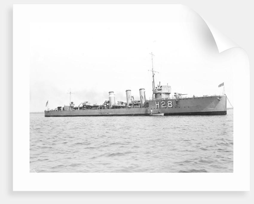 HMS 'Orpheus' (1916), destroyer by unknown
