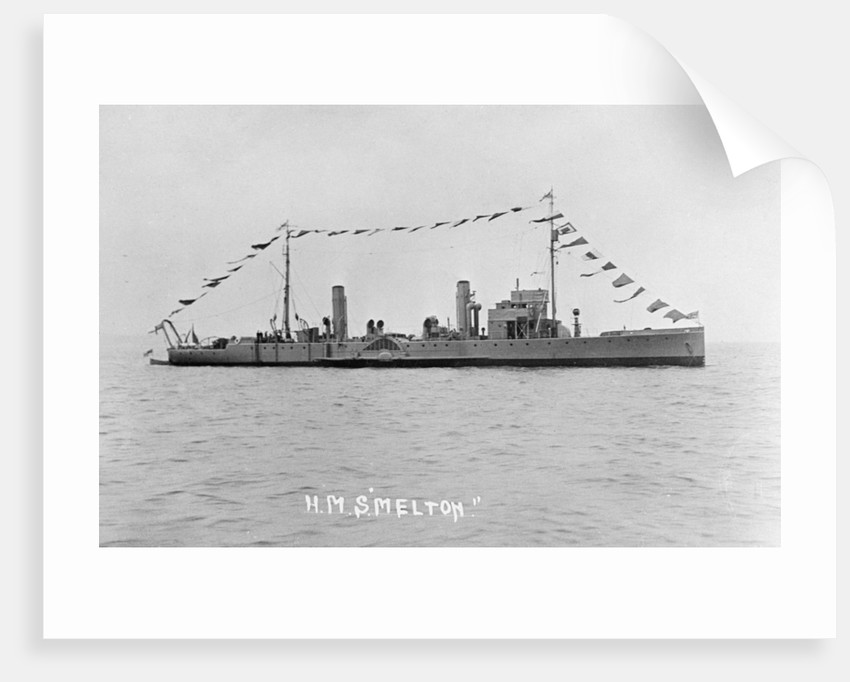 Photograph of the paddle minesweeper HMS 'Melton' 1924, Richard Perkins Collection by unknown