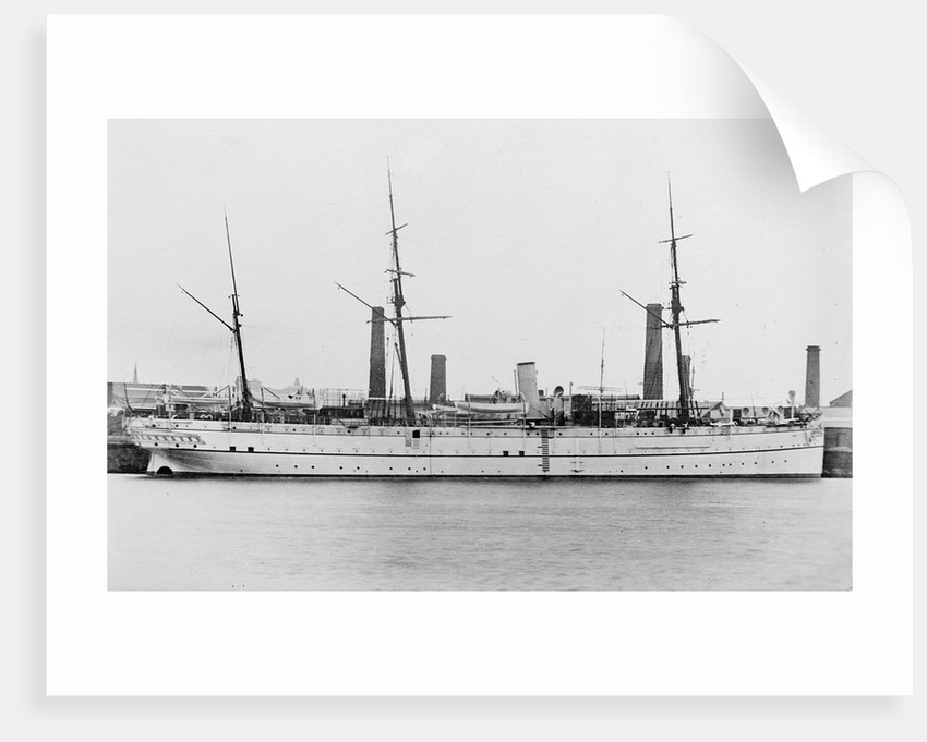 Indian troopship HMS 'Clive' (1882) by unknown