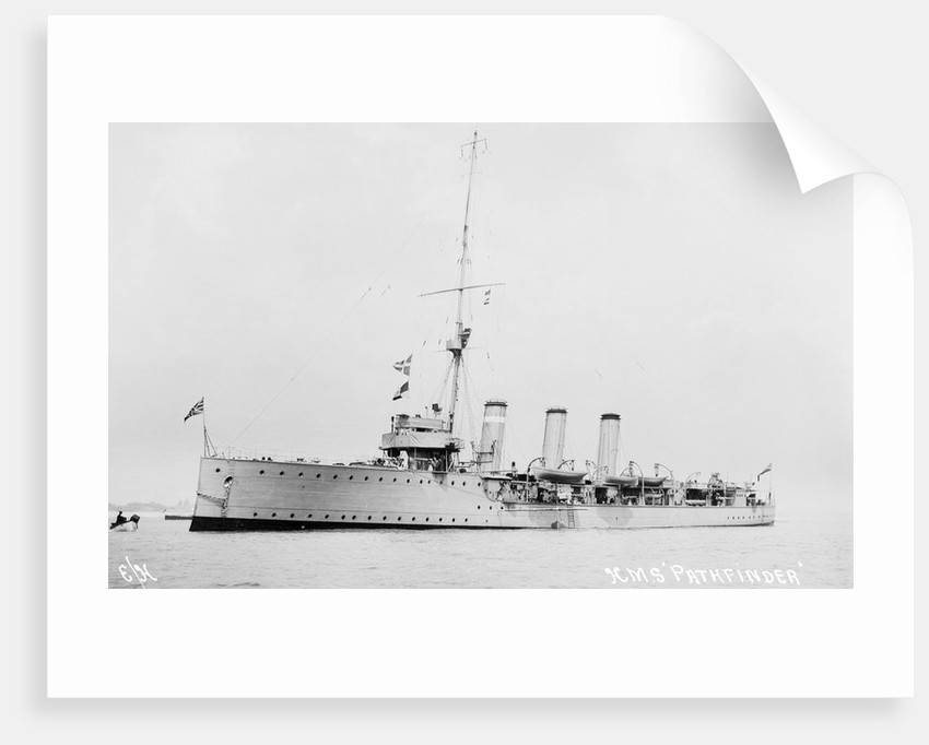 Scout cruiser HMS 'Pathfinder' (1904) by unknown
