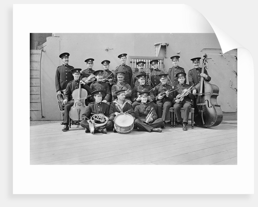 Crew on board HMS 'Queen Elizabeth' (1913) by unknown