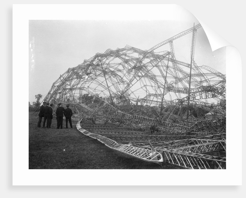 Wreckage of Zeppelin, near Colchester (1916) by unknown
