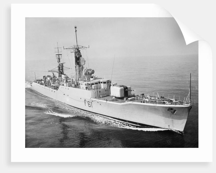 Frigate HMS 'Llandaff' (1955) under way at sea by unknown