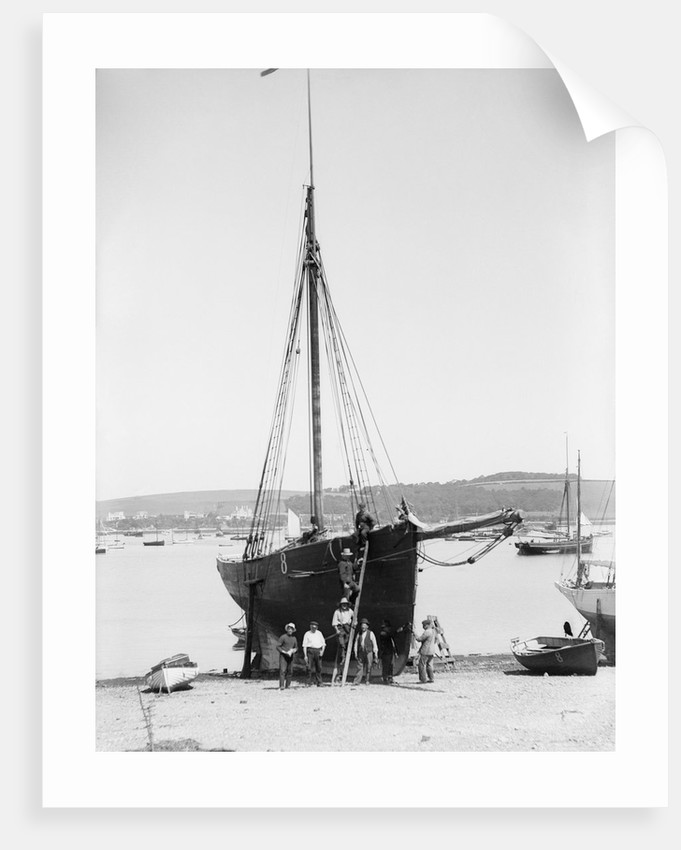 Pilot No. 8, the 'Vincent' (Br, 1852) on the beach at Falmouth by unknown