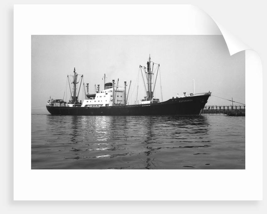 General cargo vessel 'Esperanza' (Germany, 1955) under tow at Swansea by unknown