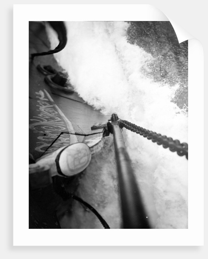 The cutwater cleaving its way beneath the bowsprit by Alan Villiers