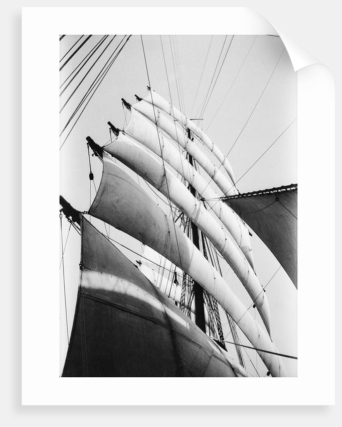 Under sail, all set and drawing by Alan Villiers