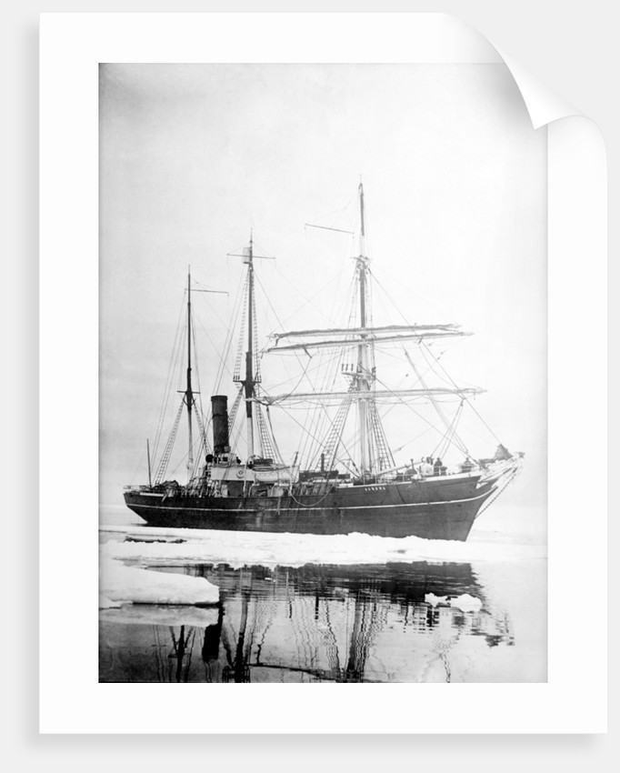 'Aurora' (Br, 1876) Sir Ernest Shackleton's exploration vessel amongst the ice by unknown