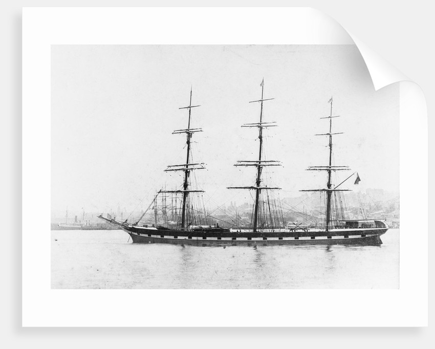 'Garsdale' (Br, 1885) at anchor by unknown