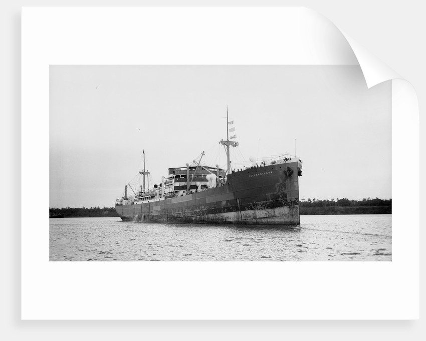 Silverwillow' (Br, 1930) at Mombasa, under way by unknown