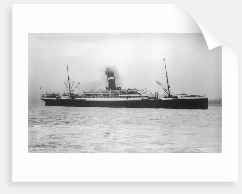 Passenger liner 'Victorian' (Br, 1904) under tow, Allan Line S S Co Ltd by unknown