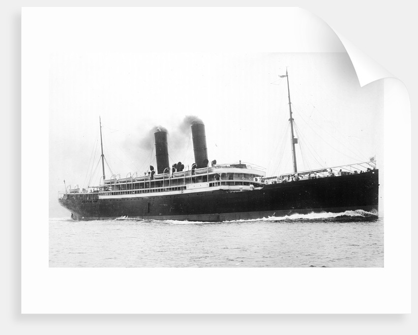 'California' (Br, 1907) passenger liner, Anchor Line (Henderson Bros) Ltd., under way by unknown