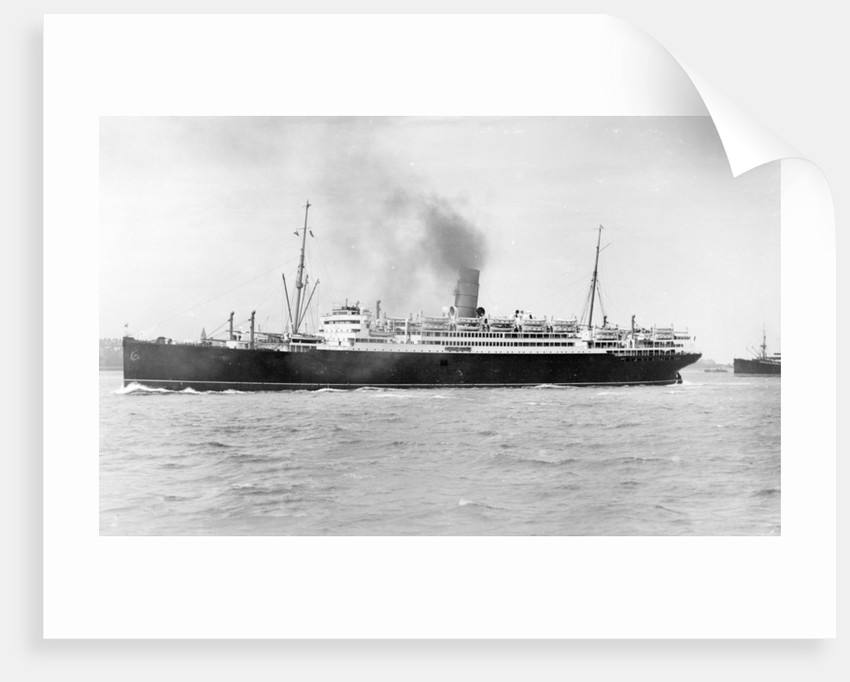 The 'Laconia' (Br, 1922) under way by unknown