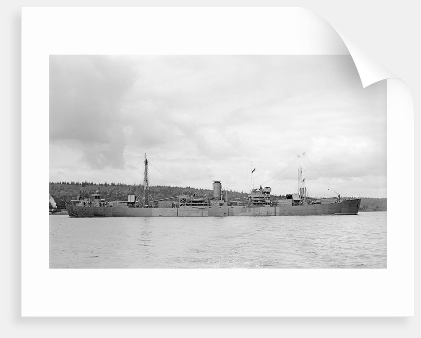 'Fort St Regis' (Br, 1950) at anchor, Halifax NS by unknown