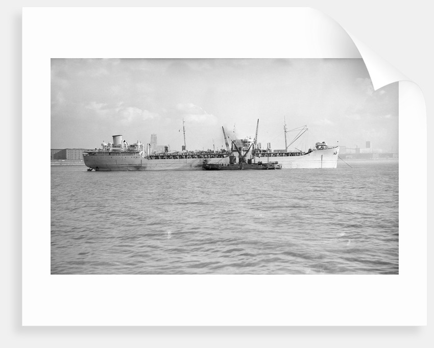'Nordahl Grieg' (No, 1944) at anchor in the River Mersey by unknown