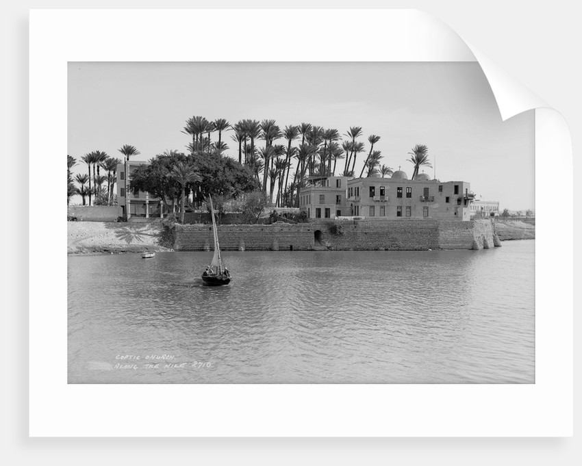 Coptic Church alongside the Nile at Cairo, Egypt by Marine Photo Service