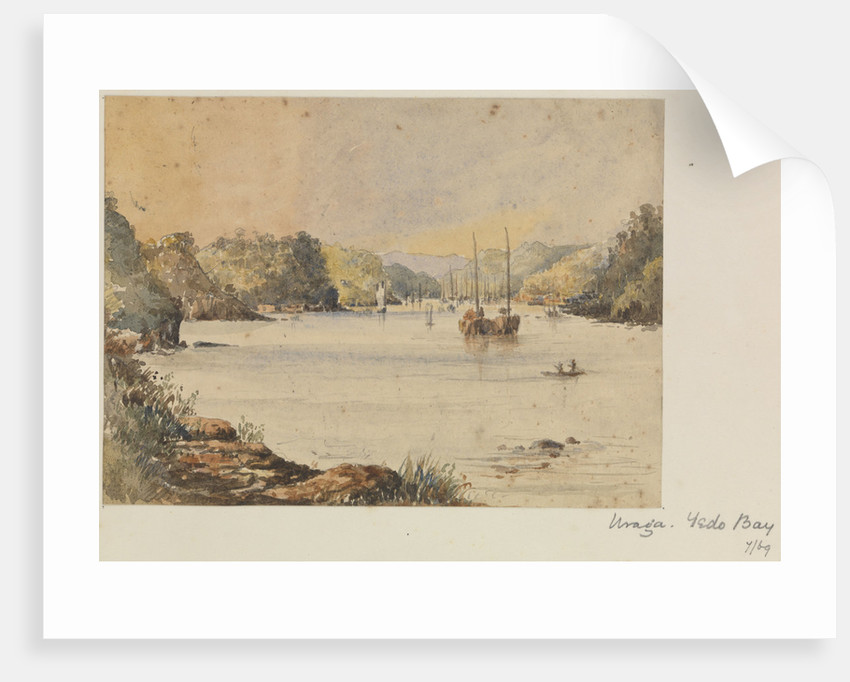 'Uraga, Yedo Bay' [Tokyo Bay, Japan] by James Henry Butt