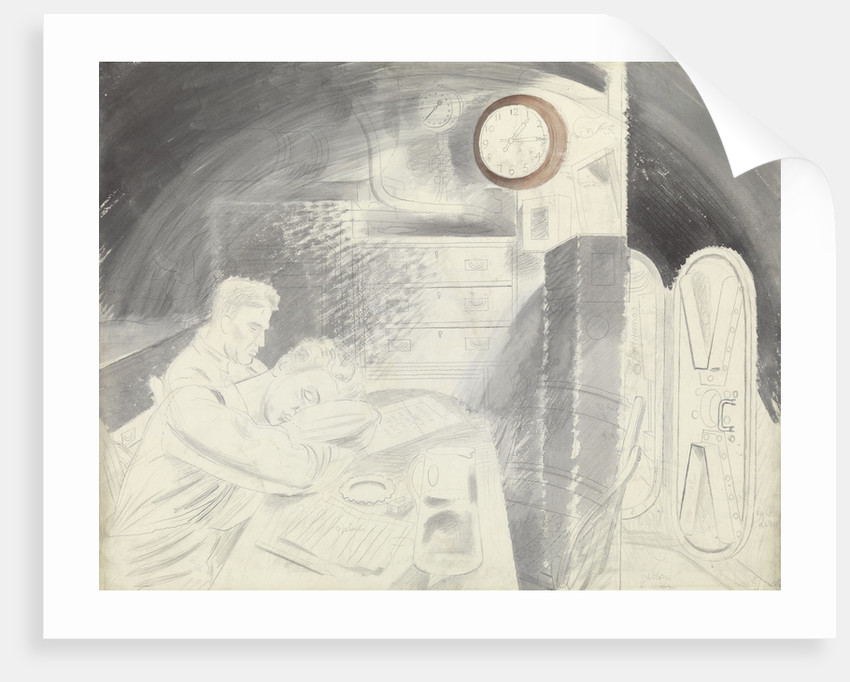 Submarine Series: The Ward Room by Eric Ravilious