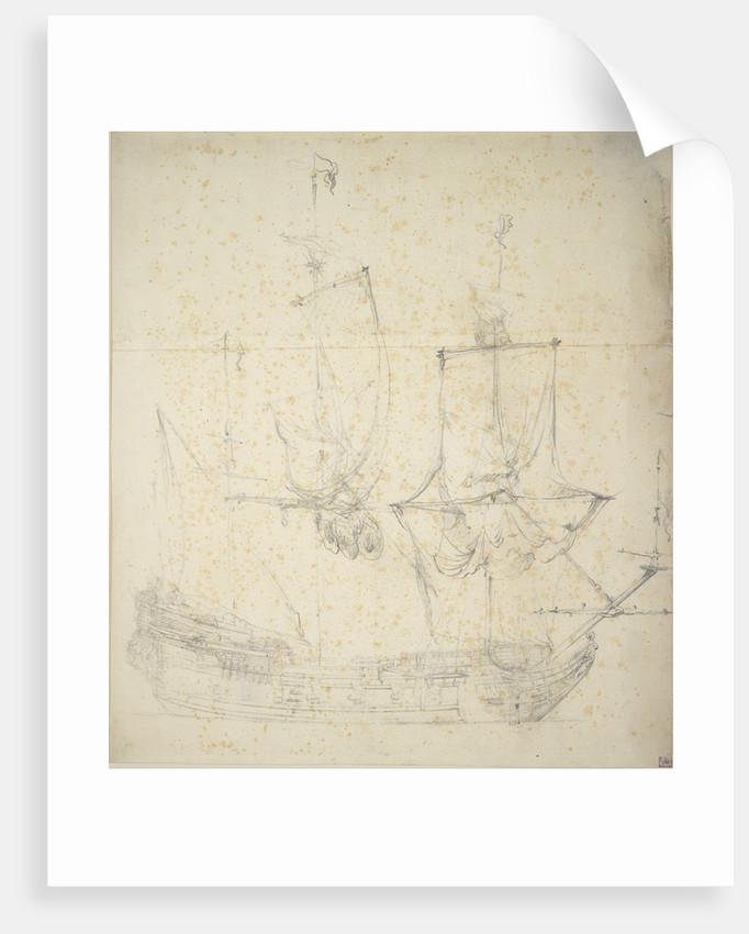 Portrait of a Dutch frigate by Willem van de Velde the Elder