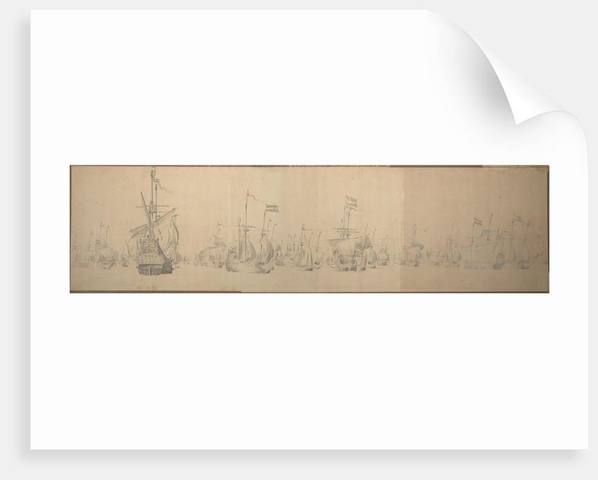 The Dutch fleet tacking off the North Frisian Islands, 9/19 October 1658 by Willem van de Velde the Elder