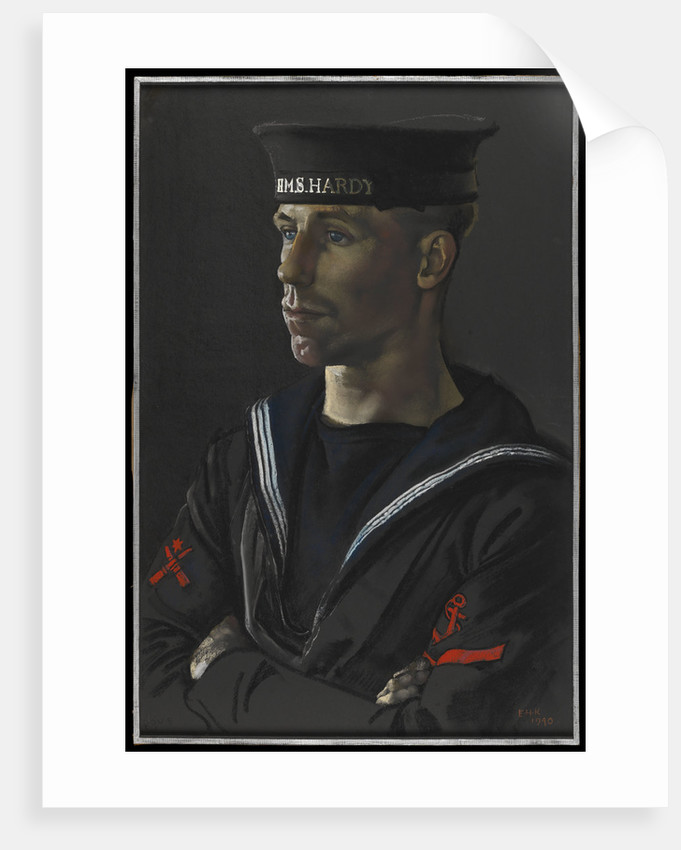 Portrait of Leading Seaman Dove of HMS 'Hardy', 1940 by Eric H. Kennington