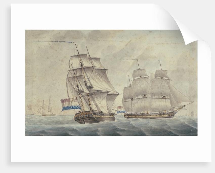 Two Dutch frigates by unknown