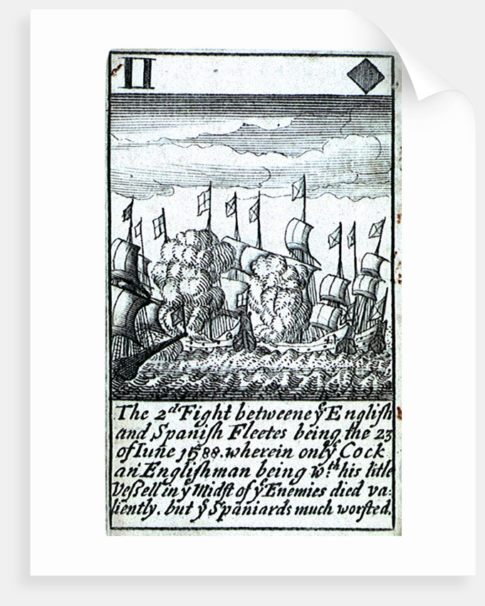 1588 Armada Playing Cards, II of Diamonds by unknown