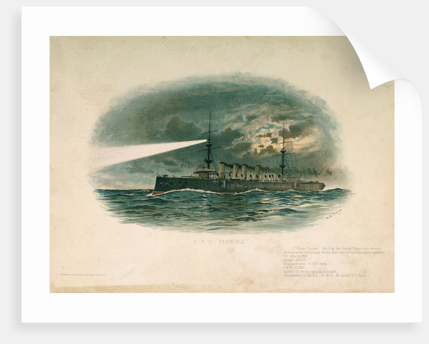 HMS 'Terrible' (Br, 1897) by W.S. Tomkin
