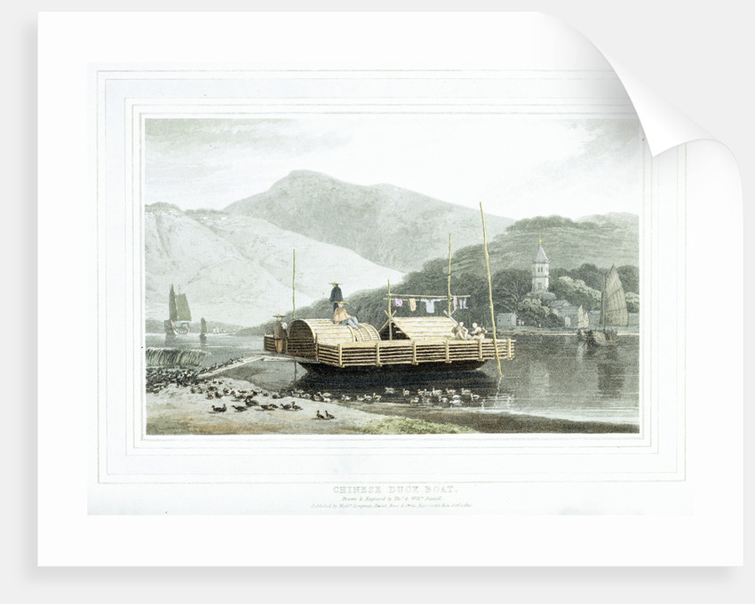 Chinese duck boat by Thomas Daniell