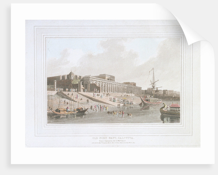 Old Fort Gaut, Calcutta, India by Thomas Daniell