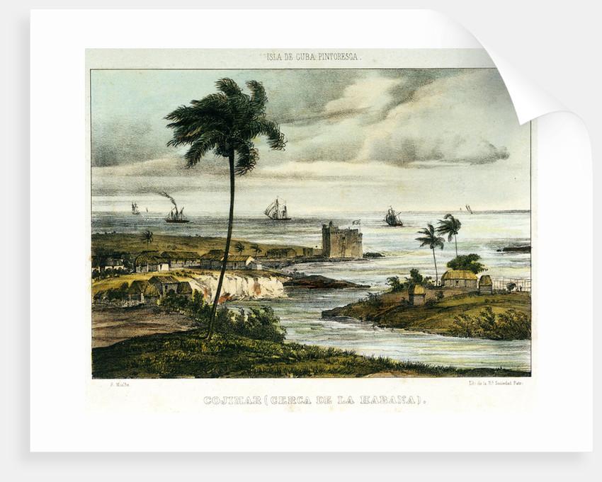 Cojimar (or Coximar) fort, Havana by F. Mialhe