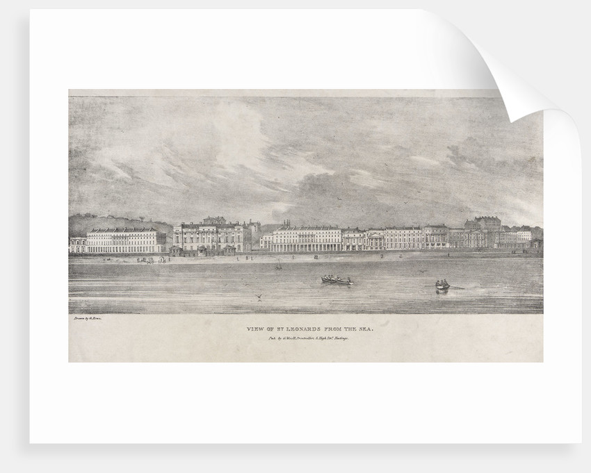 View of St Leonards from the sea by George Rowe