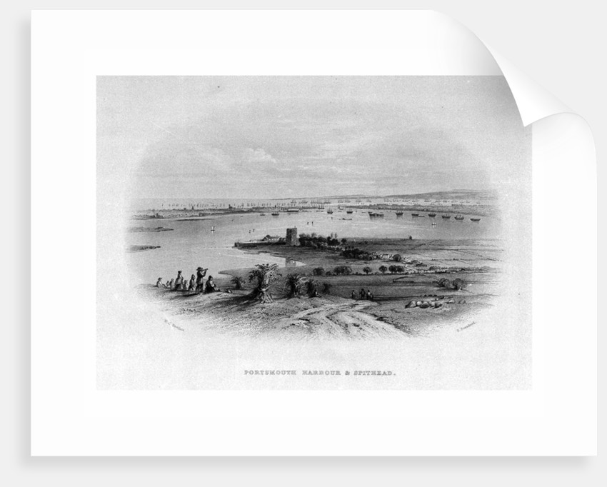 Portsmouth harbour & Spithead by William Henry Bartlett