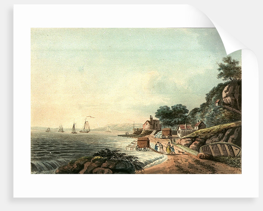 View of the Castle & bathing place at Cowes by J Hassell