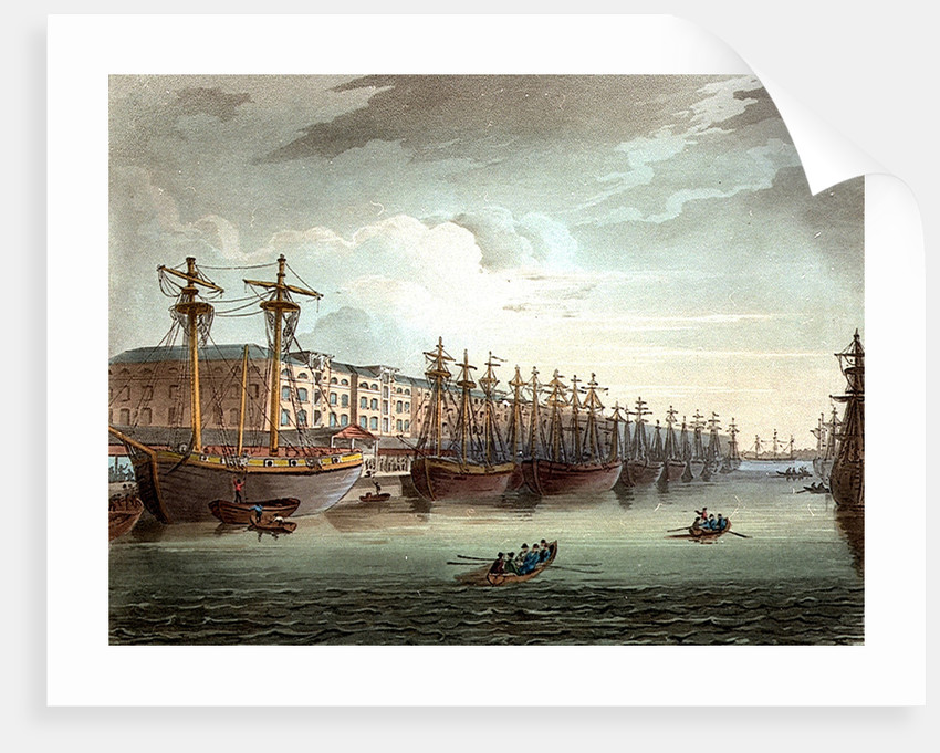West India Docks by Thomas Rowlandson