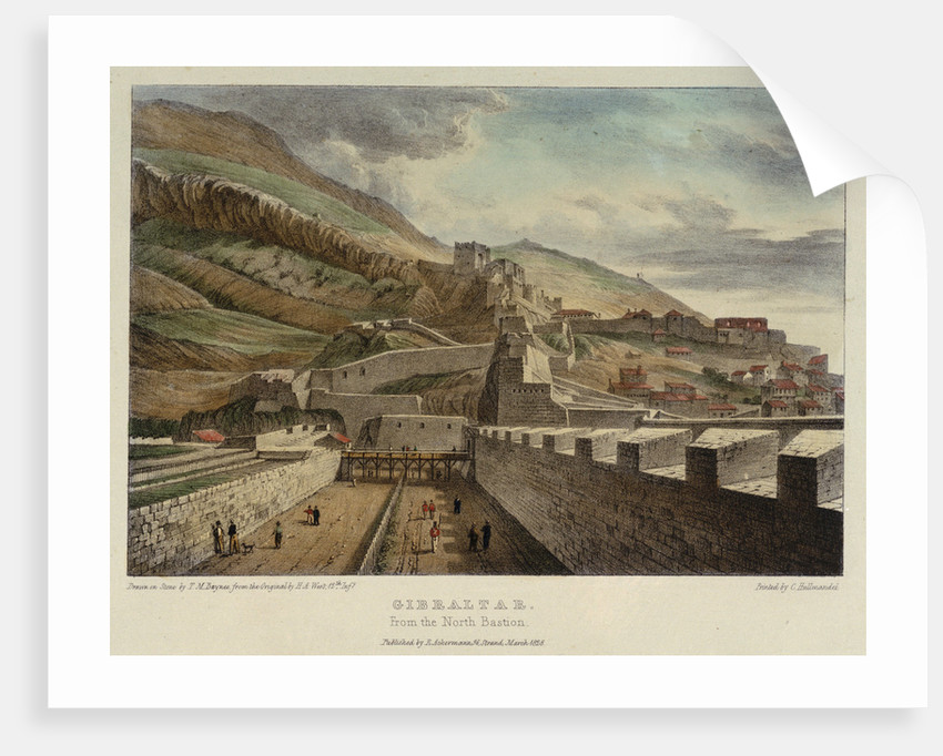 Gibraltar. From the North Bastion by H.A. West