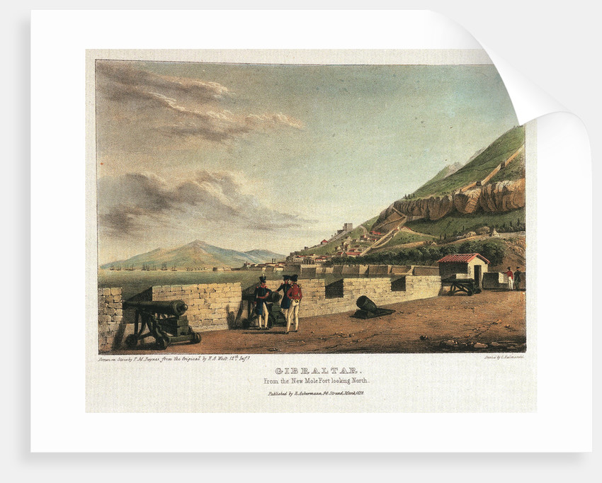 Gibraltar. From the New Mole Fort looking sorth by H.A. West
