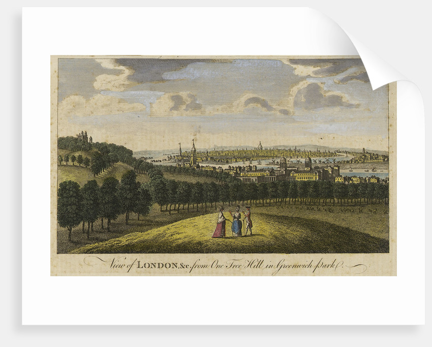 View of London, &c. from One Tree Hill in Greenwich Park by Pieter Tillemans